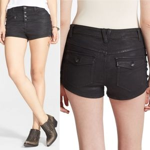 Free People Lone Ranger Coated Shorts